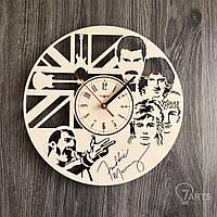 """Настенные часы из дерева в интерьер """"Queen"""""""