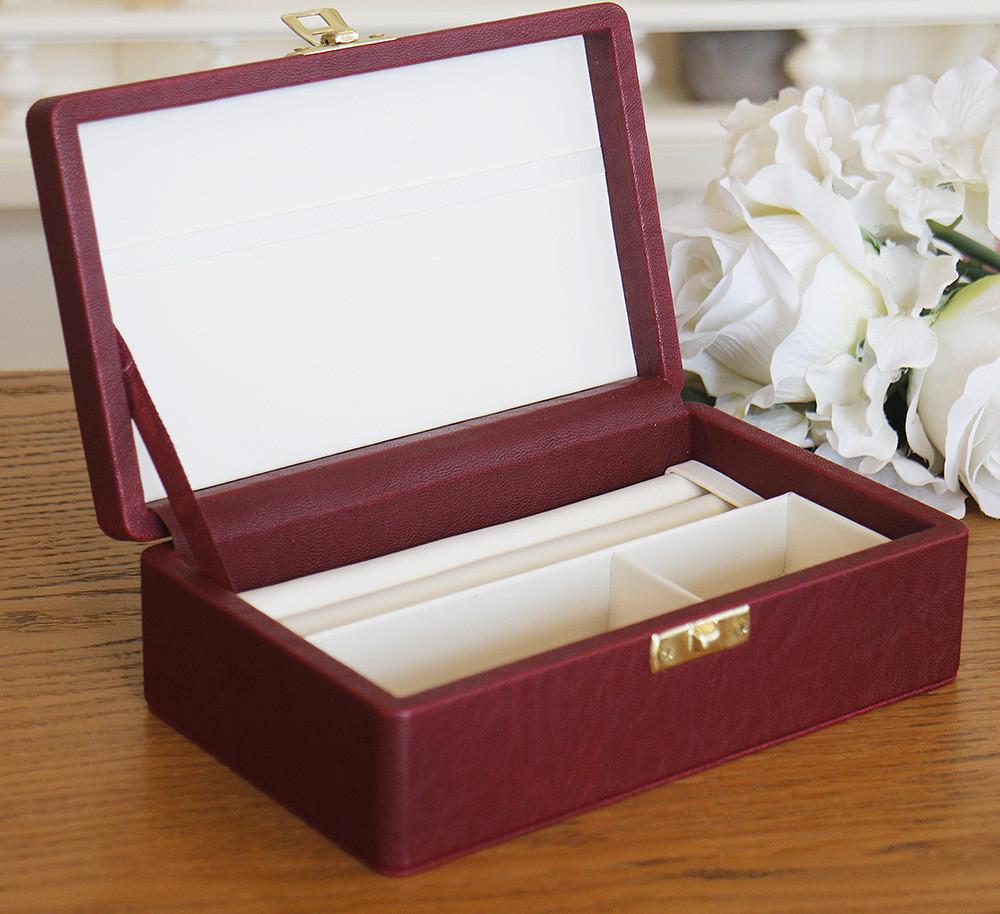 Шкатулка для ювелирных изделий 17,8*11*6 603430 бордовая