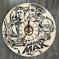 """Настенные часы из дерева в интерьер """"Безумный Макс"""""""