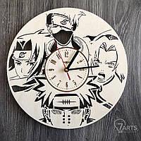 """Настенные часы из дерева """"Наруто"""""""