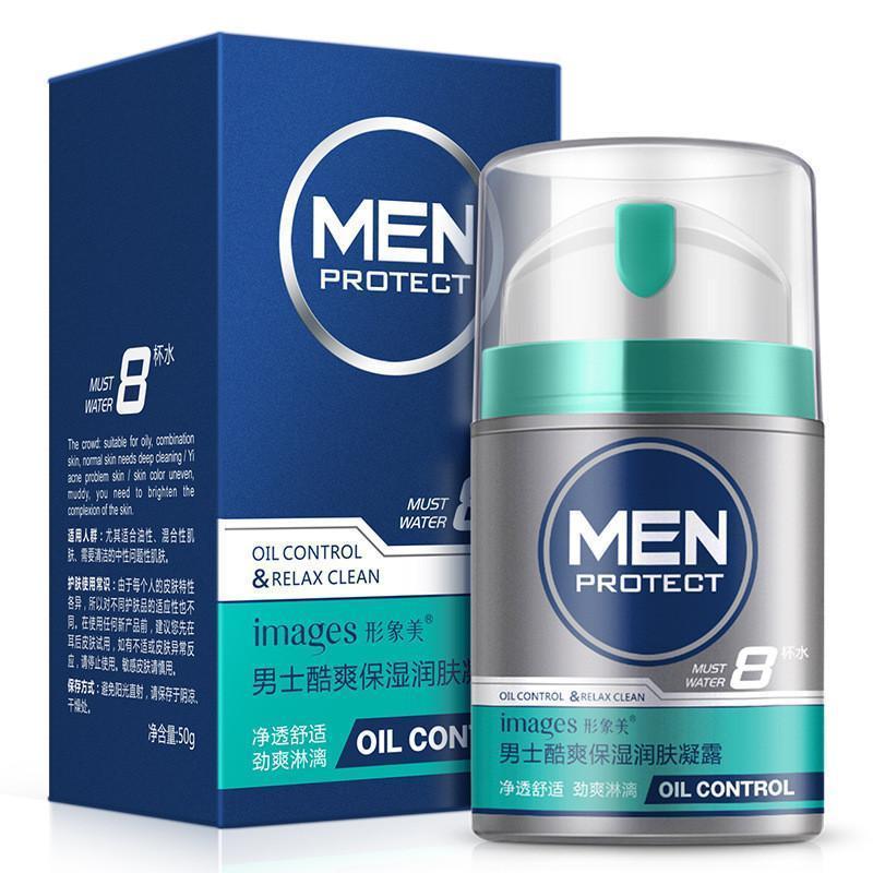 Мужской крем-гель для жирной кожи лица Images Men Protect Oil Control