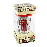 Кружка с силиконовой крышкой в подарочной упаковке London