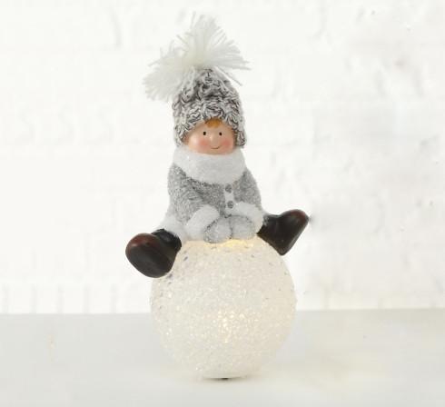 Ночник LED Ребенок на шаре h20см керамика 1016209