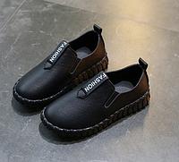Туфли детские PU-кожа Fashion черные