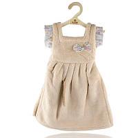 Махровое полотенце Платье для рук 33х33 см SH88828 бежевое 149133