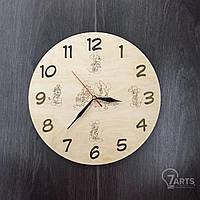 """Детские деревянные часы на стену """"Любимые герои мультфильмов"""""""