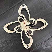 """Часы настенные """"Цветок"""" из дерева"""