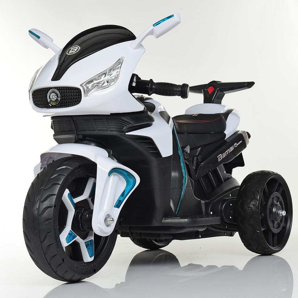 Мотоцикл детский M 3965EL-1 белый Гарантия качества Быстрая доставка