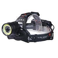 Аккумуляторный налобный фонарик 7107-T6 D1011