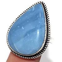 """Кольцо с  голубым опалом """"Капля"""", размер 19.4 от студии LadyStyle.Biz, фото 1"""