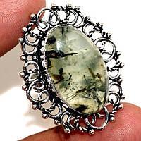 Серебряный перстень с пренитом , размер 18.5 от студии  LadyStyle.Biz, фото 1