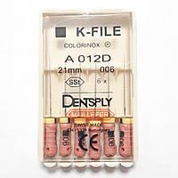 K-File 21мм, уп.6шт, №006, Dentsply Maillefer