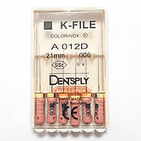 K-File 21мм, уп.6шт, №006, Dentsply Maillefer