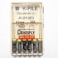K-File 21мм, уп.6шт, №008, Dentsply Maillefer
