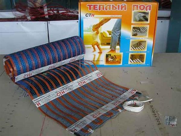 Теплый пол электрический СТН 0,5-2,25м - 1,13м²