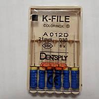 K-File 21мм, уп.6шт, №030, Dentsply Maillefer