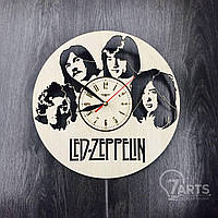 "Арт-часы настенные деревянные круглые ""Led Zeppelin"""