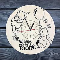 """Детские деревянные часы на стену """"Винни Пух"""""""
