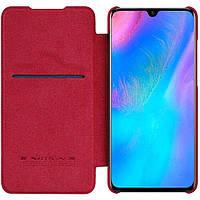 Кожаный чехол (книжка) Nillkin Qin Series для Huawei P30 Красный