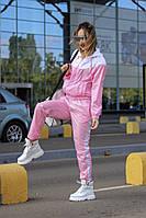 Женский спортивный костюм на молнии 42-46 рр. розовый, фото 1