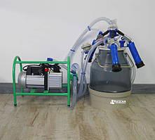 Доильный аппарат Импульс-Ротор для 1-12 коз /доильные стаканы пластмасса, ведро поликарбонат/