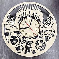 """Оригинальные деревянные настенные часы """"Железный трон"""""""