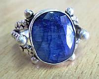 Овальный перстень с синим сапфиром  , размер 18.5  от студии LadyStyle.Biz, фото 1