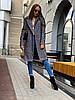 Класичне твідове пальто сірого кольору з поясом 42-44 р, фото 3