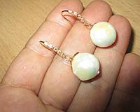 """Жемчужные серьги  """"Серебристая горошина"""" с  жемчугом,  от студии LadyStyle.Biz, фото 1"""