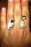 Серьги   с  жемчугом  природной формы,  от студии LadyStyle.Biz, фото 1