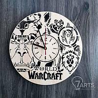 """Настенные часы из дерева в стиле фентези """"Варкрафт"""""""