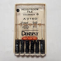 H-File 21мм, уп.6шт, №040, Dentsply Maillefer