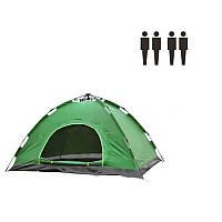 Палатка автомат 4 местная зеленая 149985