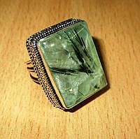 Серебряный перстень с пренитом , размер 18.6 от студии  LadyStyle.Biz, фото 1