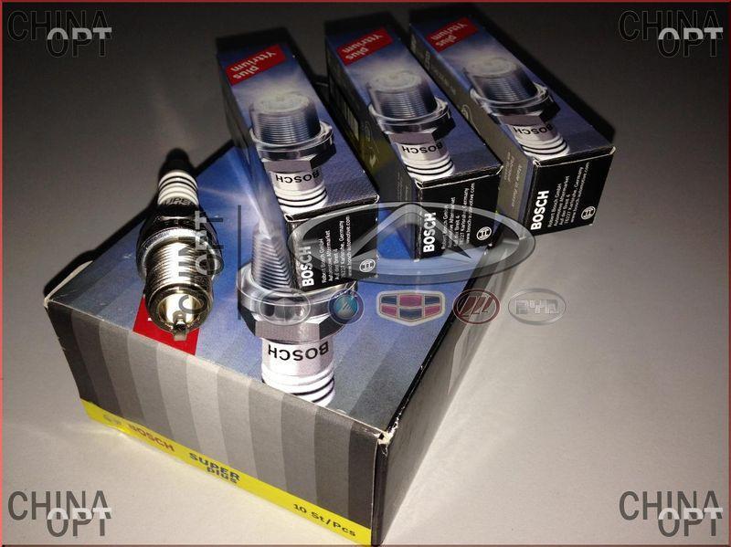 Свечи зажигания, комплект, 480E*, 473H, 481*, 484H, одноконтактные, 1.1мм, Chery Kimo [S12,1.3,MT], A11-3707110CA, Bosch