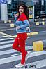 Женский спортивный прогулочный костюм: кофта на змейке и штаны без манжета, батал большие размеры, фото 2