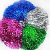Помпоны блестящие для черлидинга (по 12 пар одного цвета), красный, синий