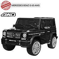 Детский электромобиль Mercedes-Benz G65 джип M 3567EBLR-2(4WD) черный Гарантия качества Быстрая доставка