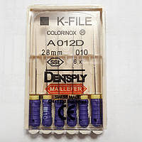 K-File 28мм, уп.6шт, №010, Dentsply Maillefer