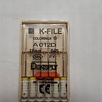 K-File 28мм, уп.6шт, №045, Dentsply Maillefer