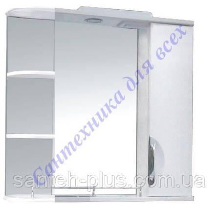 Зеркало для ванной Грация-85 с пеналом, полочками и подсветкой, фото 2