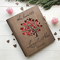 Деревянный альбом для теплых слов и пожеланий под заказ