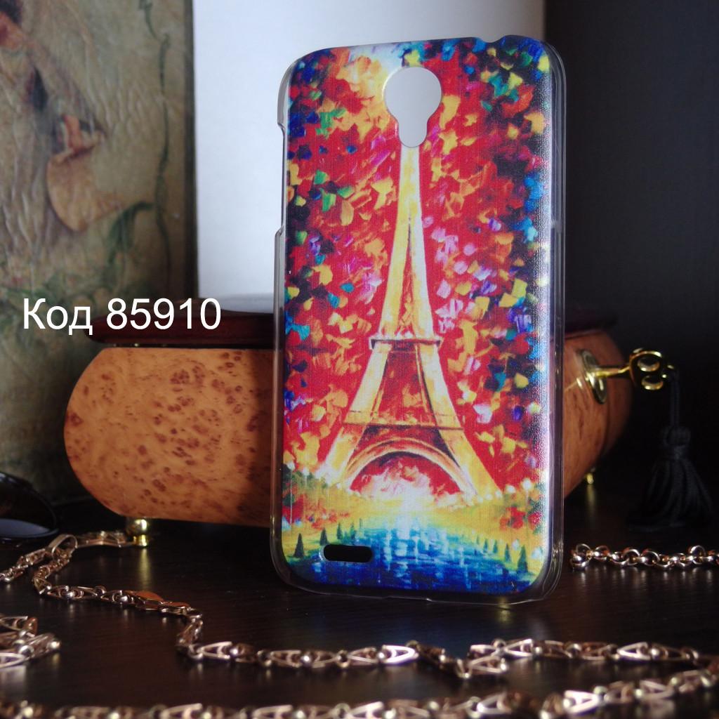 Чехол на Lenovo A859/A678t оригинальная панель накладка Париж красками