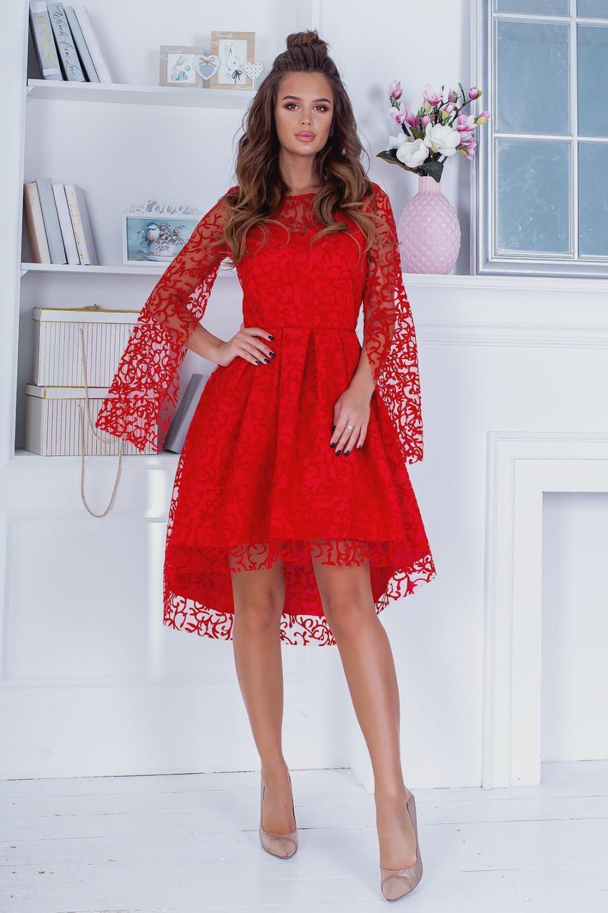 Коктейльное платье Флок 3968
