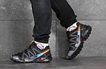 Чоловічі кросівки Salomon (чорно-сірі), фото 5