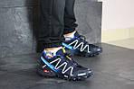 Чоловічі кросівки Salomon (синьо-білі), фото 2