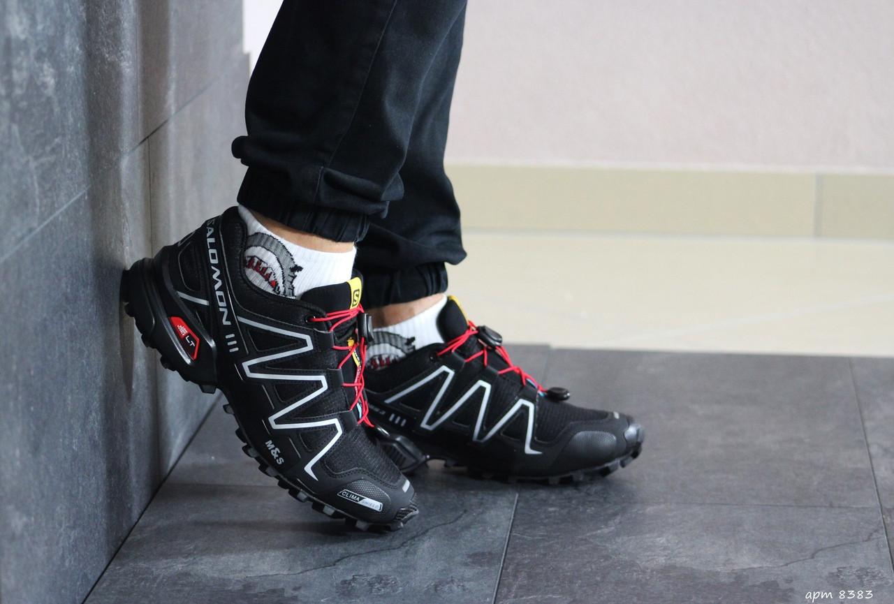 Мужские кроссовки Salomon (черно-белые)