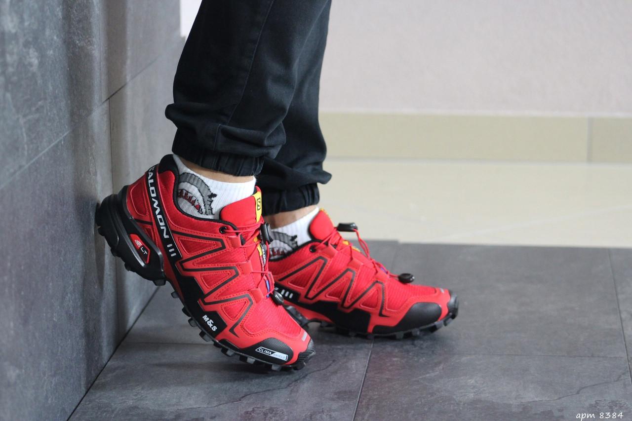 Мужские кроссовки Salomon (красные)