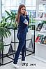 Женский спортивный прогулочный костюм: кофта на змейке с капюшоном и штаны без манжета, фото 2