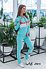 Жіночий спортивний прогулянковий костюм: кофта на блискавці з капюшоном та штани без манжета, фото 4